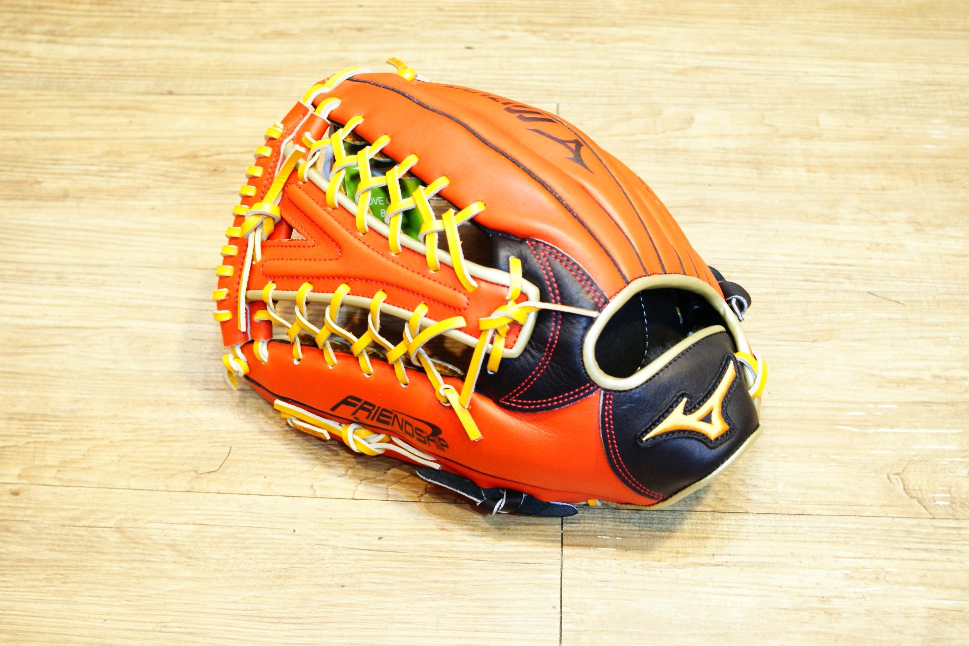 棒球世界 Mizuno 美津濃 FRIEND SHIP 壘球手套 1ATGS50860 特價黑橘配色Y網檔 反手