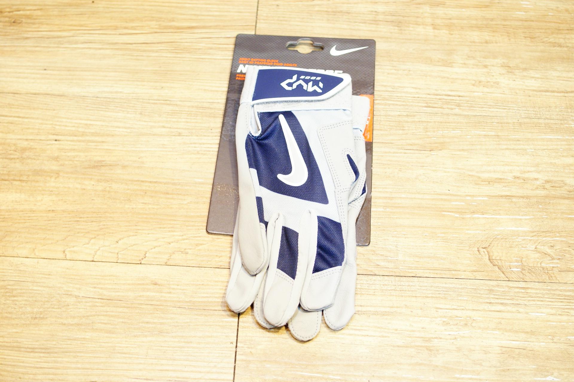 棒球世界全新NIKE MVP EDGE 打擊手套 特價 灰深藍配色