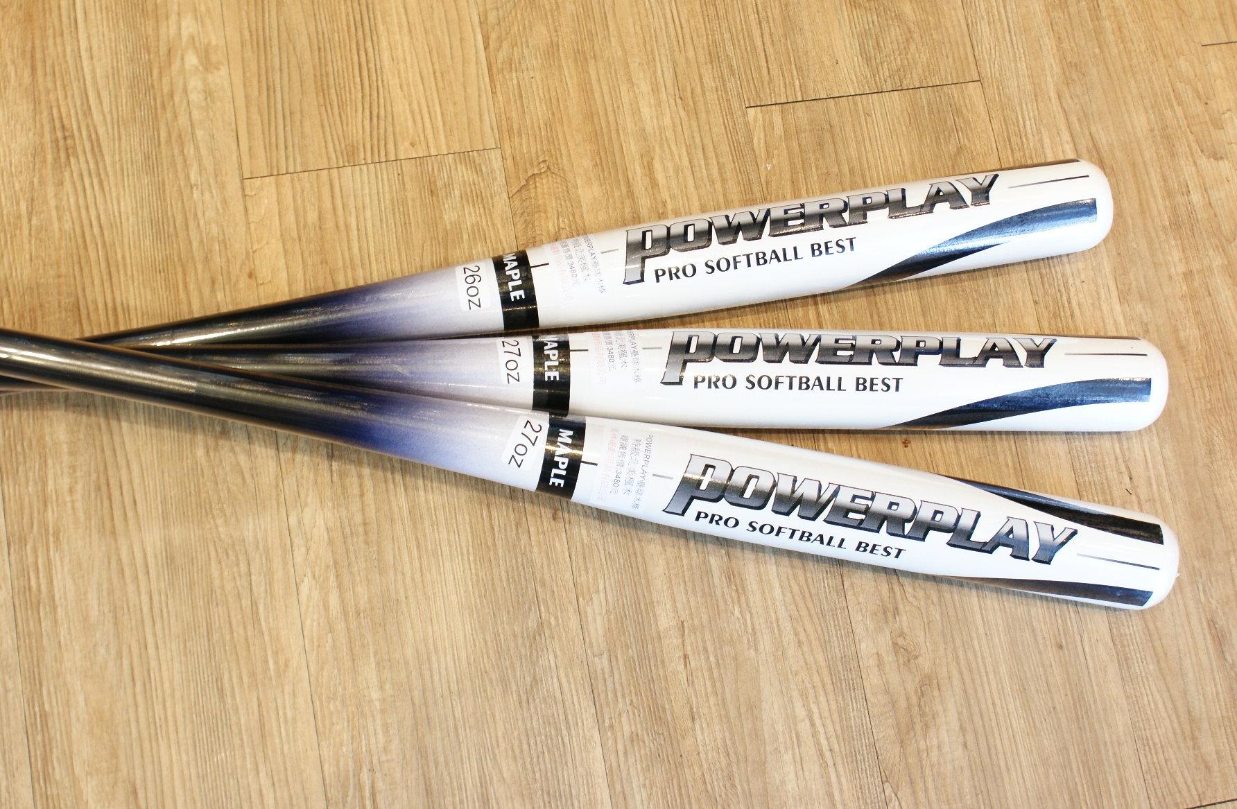 棒球世界powerplay 職業用北美楓木壘球木棒 特價 白黑配色