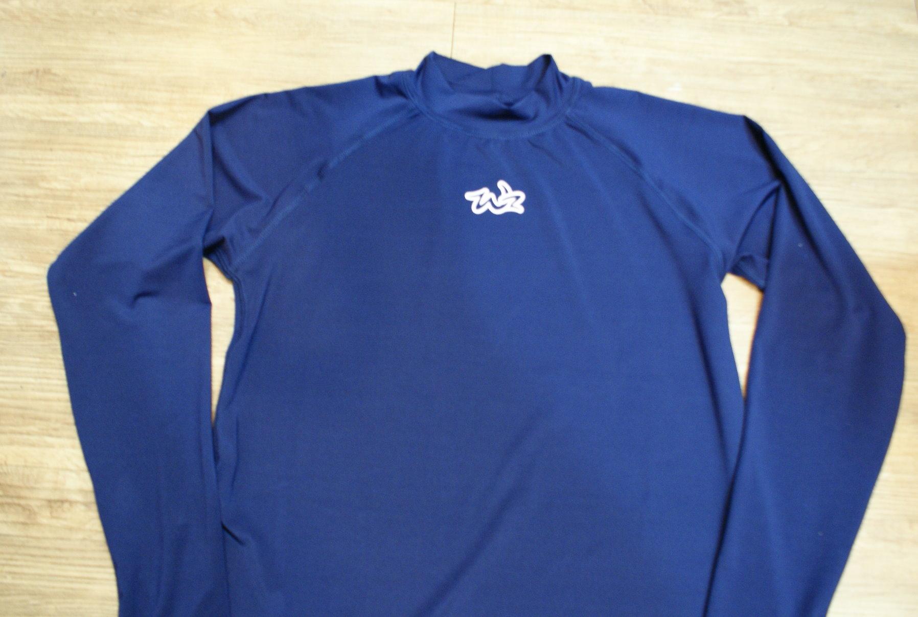 棒球世界 全新WZ藍色系快速排汗長袖運動緊身衣 特價 深藍色