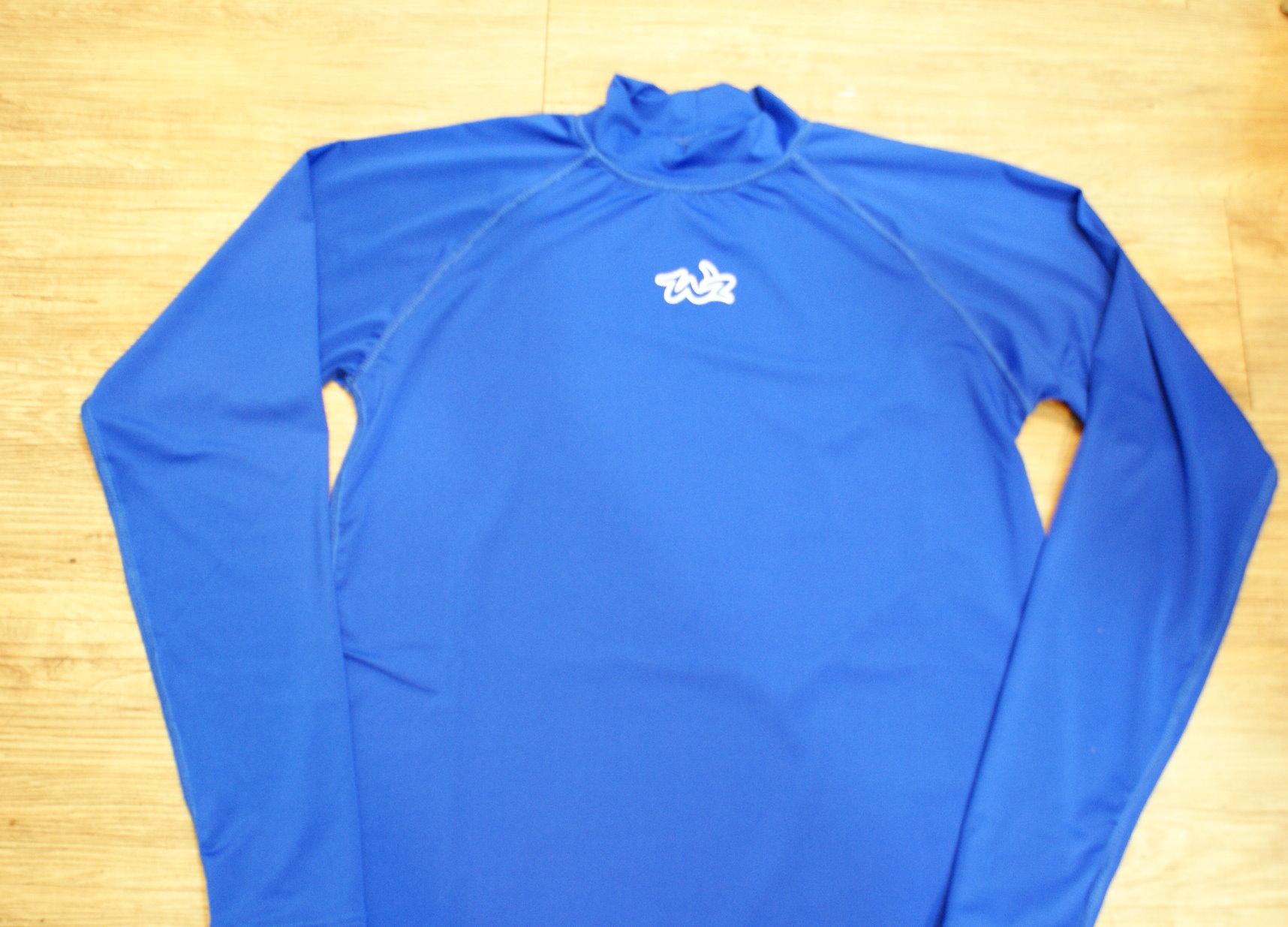 棒球世界 全新WZ藍色系快速排汗長袖運動緊身衣 特價 寶藍色