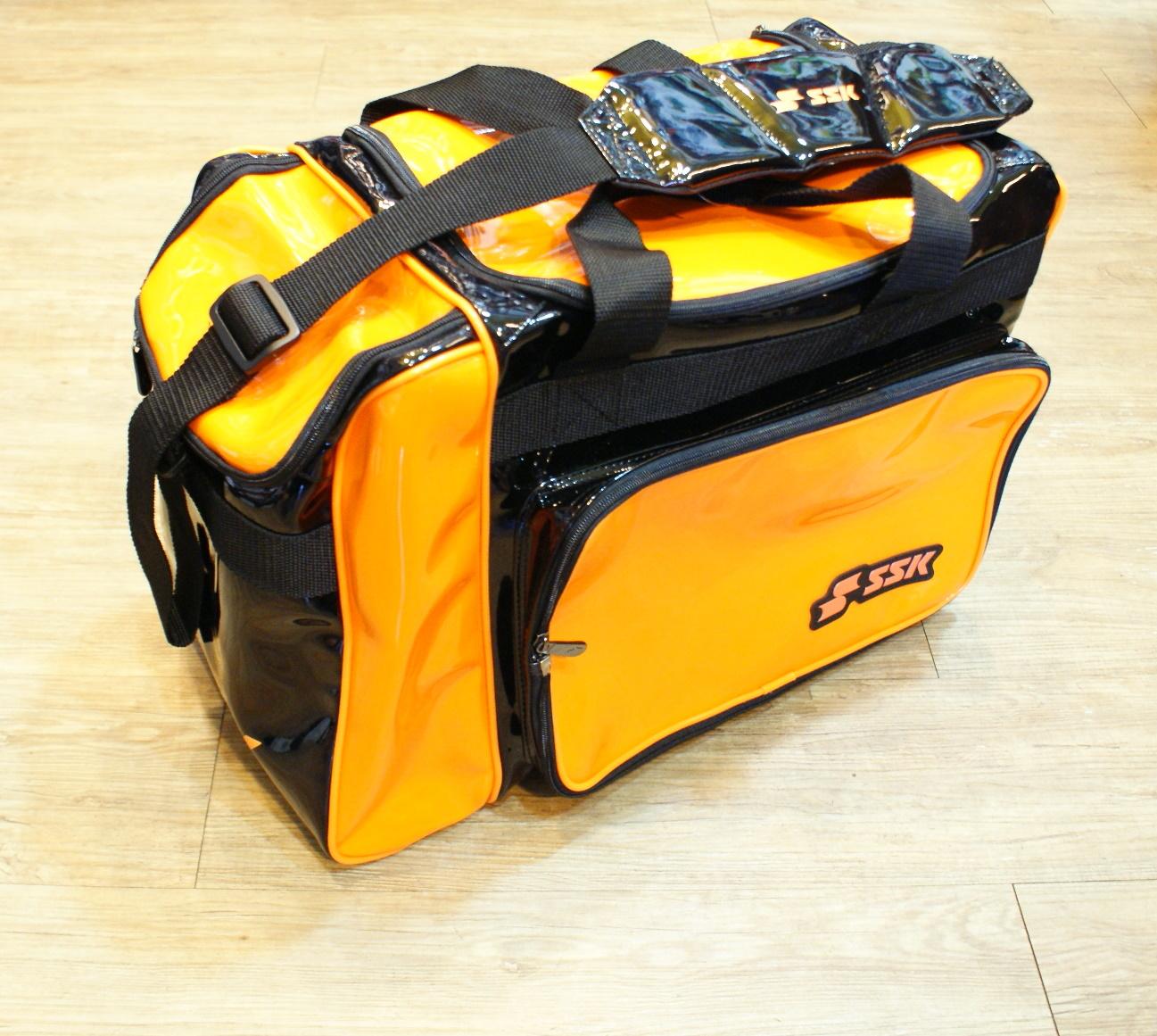 棒球世界 SSK13年新款個人裝備袋 特價 黑橘樣式配色