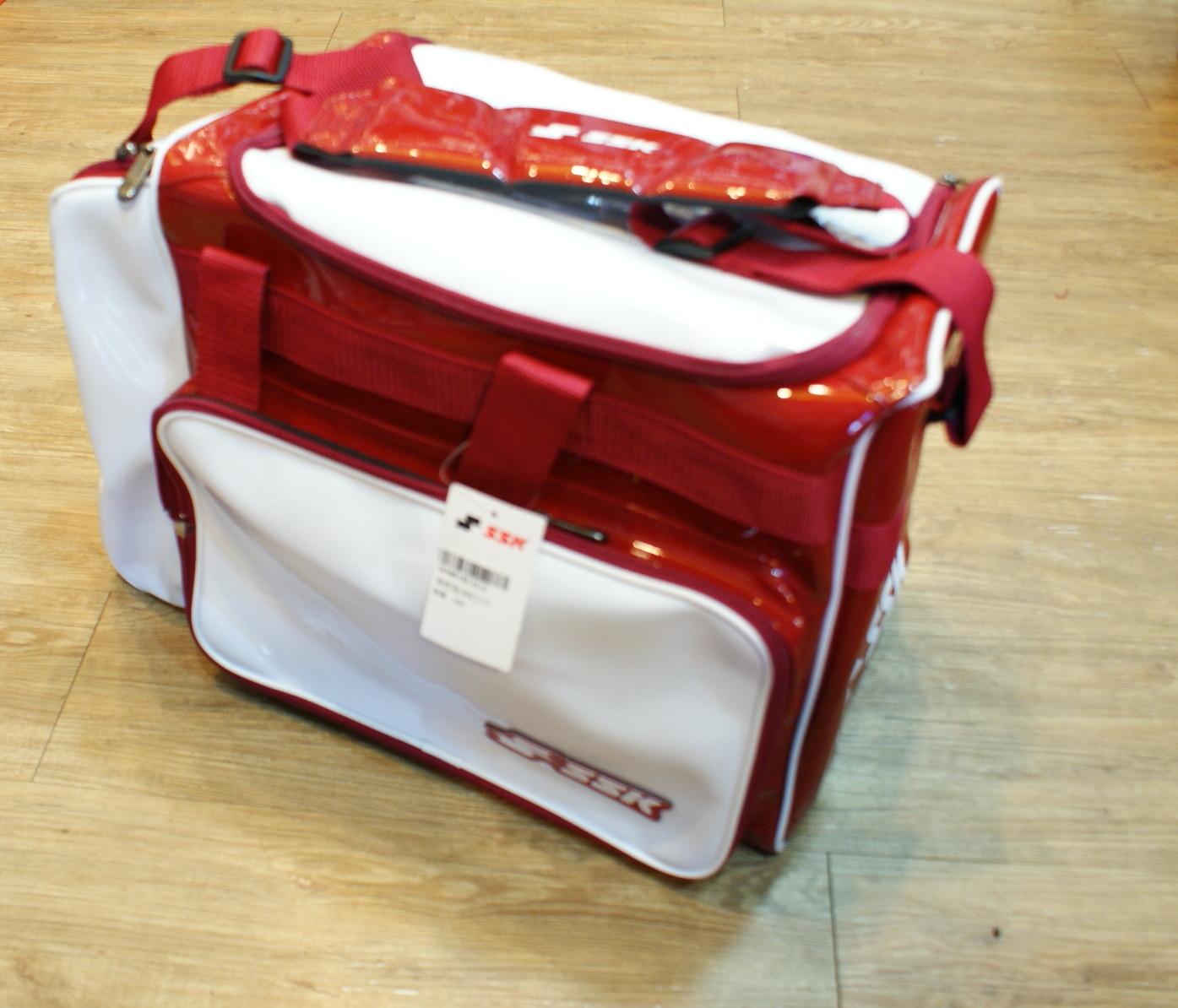 棒球世界 SSK13年新款個人裝備袋 特價 白紅樣式配色
