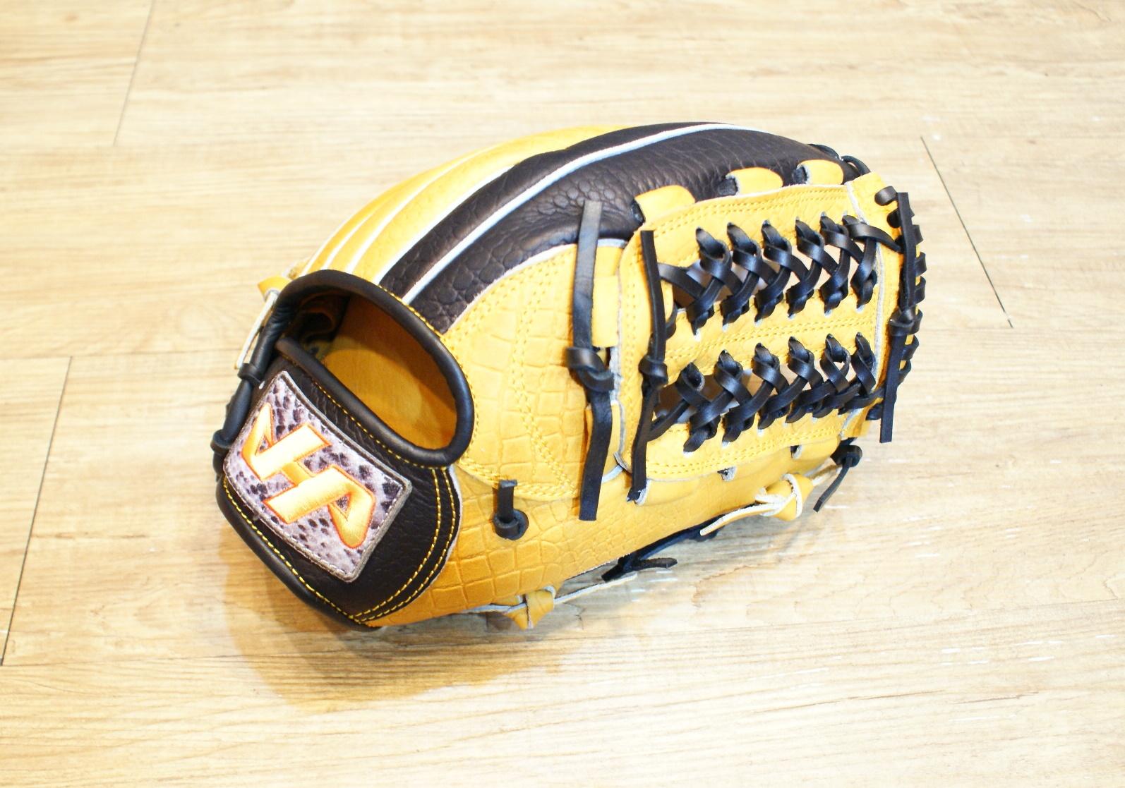 棒球世界全新 HATAKEYAMA 鱷魚紋系列 Professional Model 棒壘 手套 特價