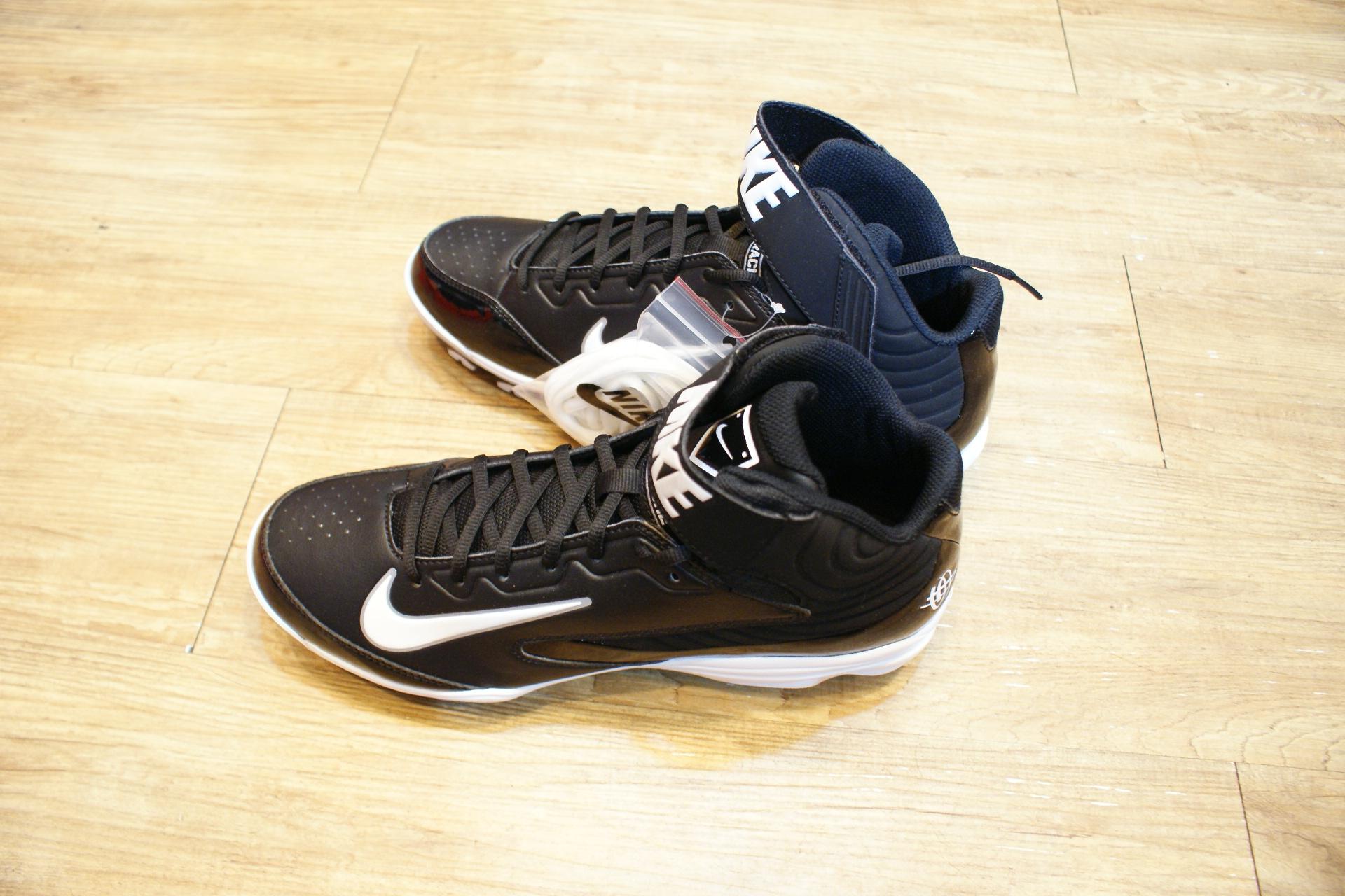 棒球世界 13年 全新NIKE STRIKE MCS 棒壘球專用膠釘鞋 特價 高統黑底