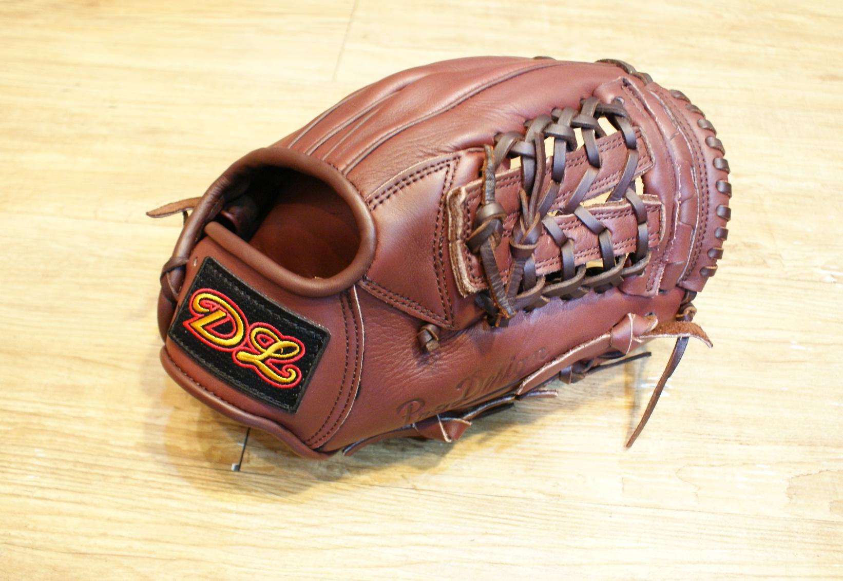 棒球世界14年DL新款內野開指棒球手套 咖啡色 特價 送皮革油