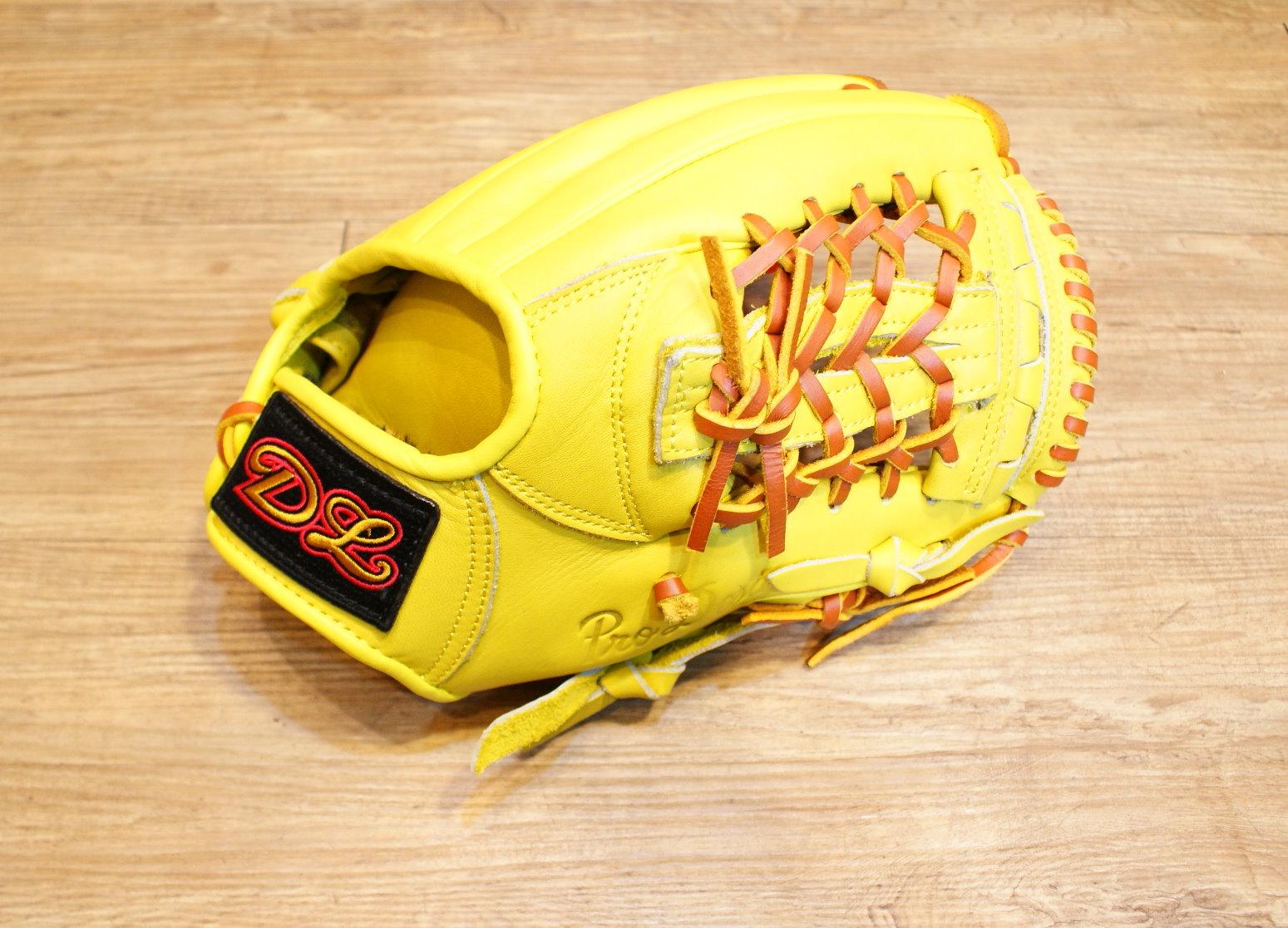 棒球世界14年DL新款內野棒球手套 黃色 特價 送皮革油