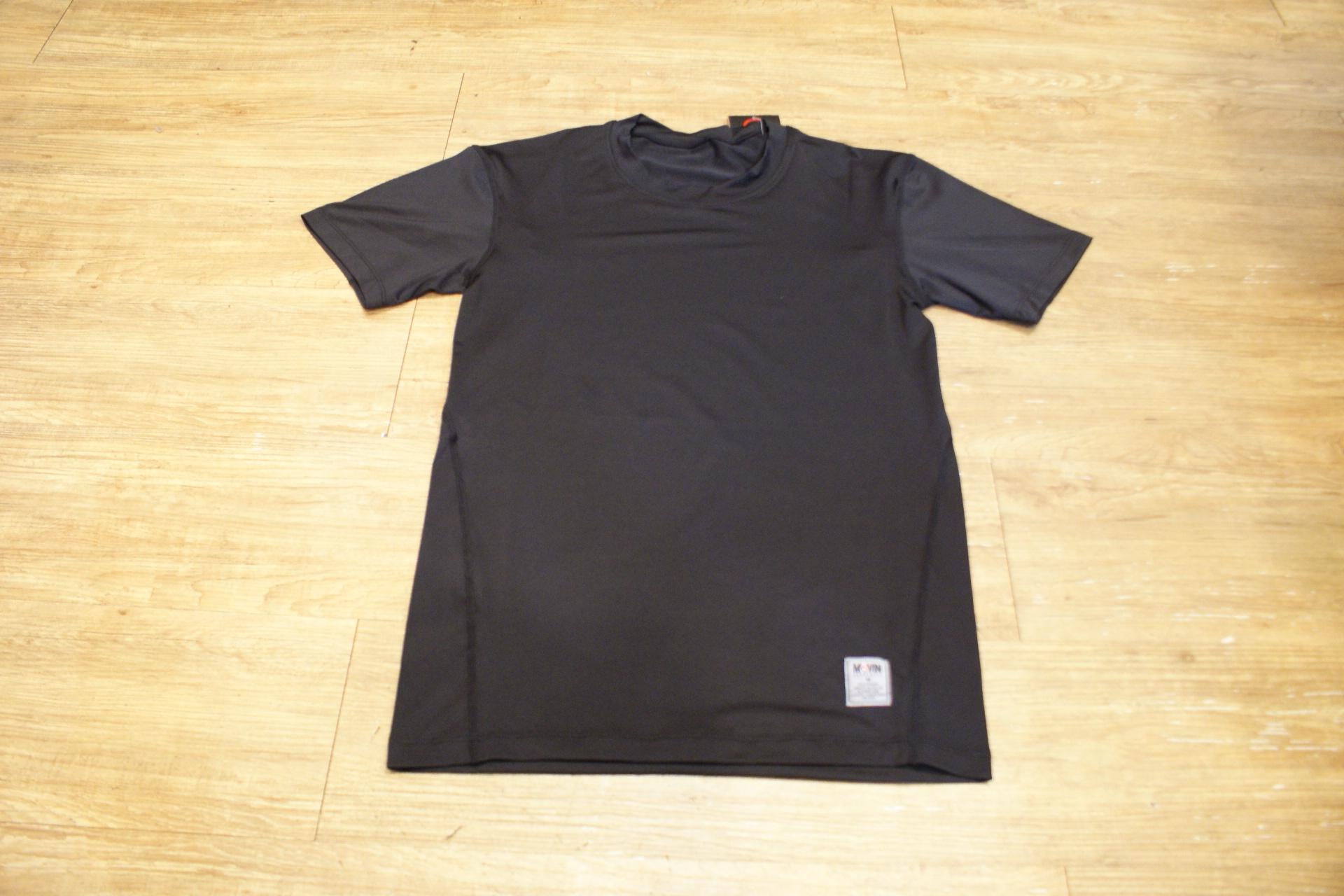 棒球世界 全新MOVIN PRO 短袖緊身衣 黑色款式 特價