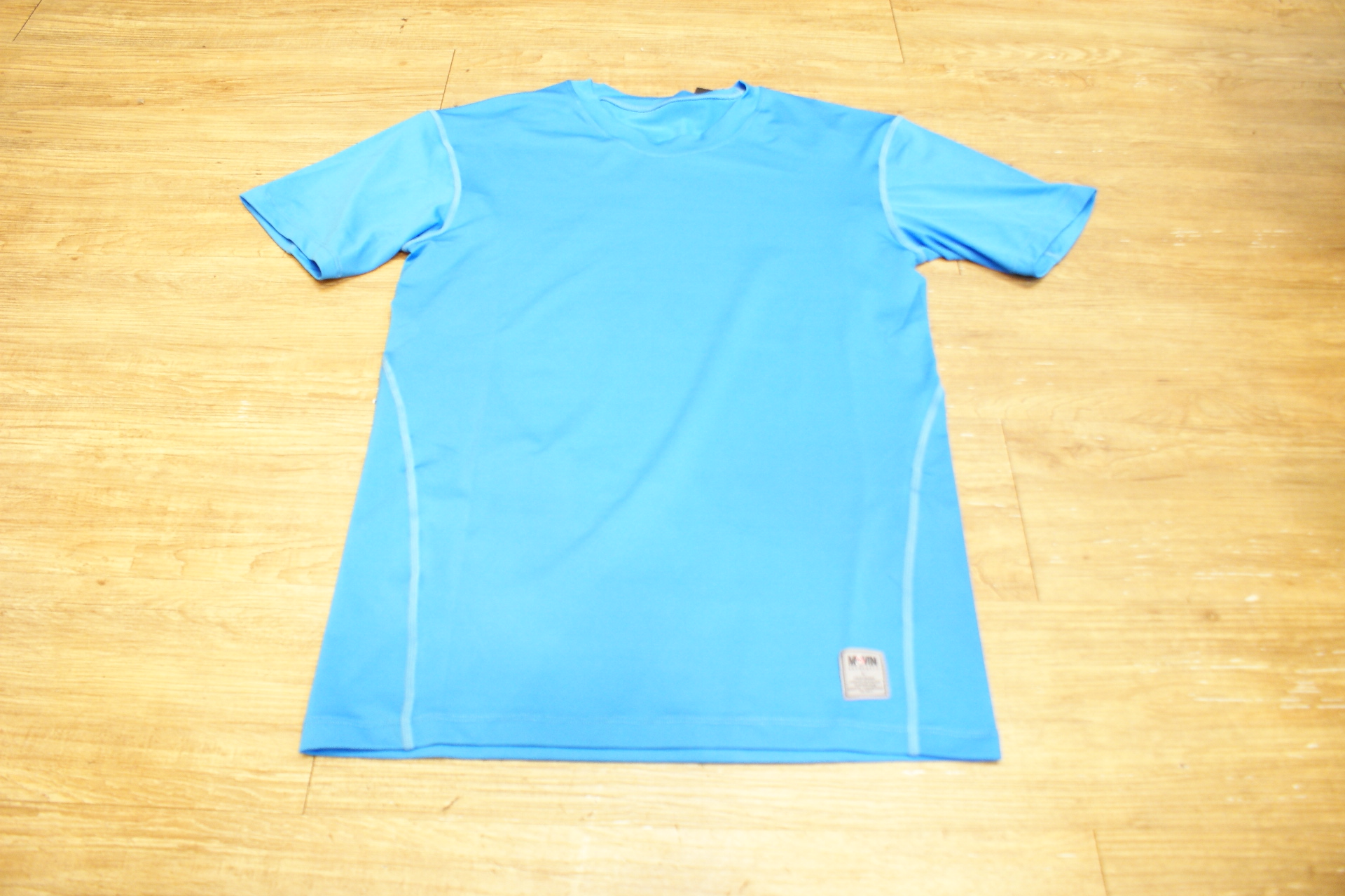 棒球世界 全新MOVIN PRO 短袖緊身衣 淺藍色款式 特價