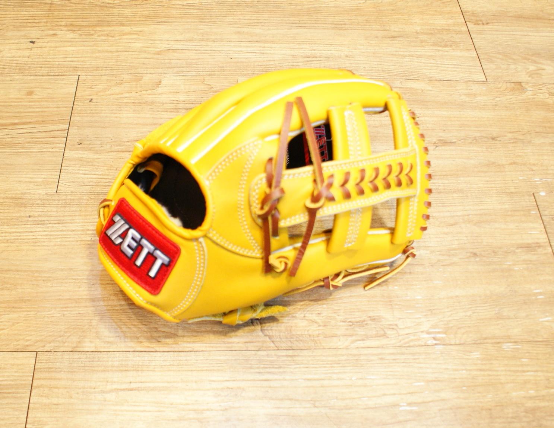 棒球世界 全新zett原皮色棒壘球手套 特價 十字檔 12吋
