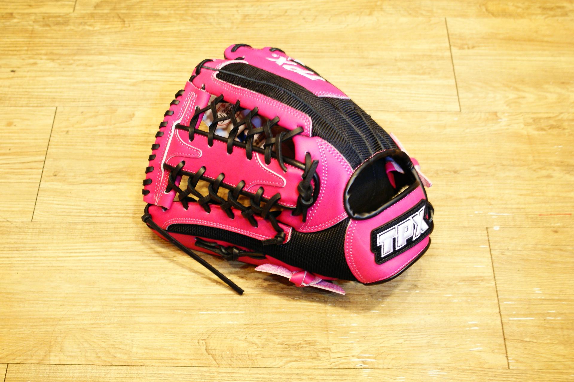 棒球世界 Louisvill Slugger 路易斯威爾TPX 布織布 外野網棒壘球手套 特價 黑粉配 反手用