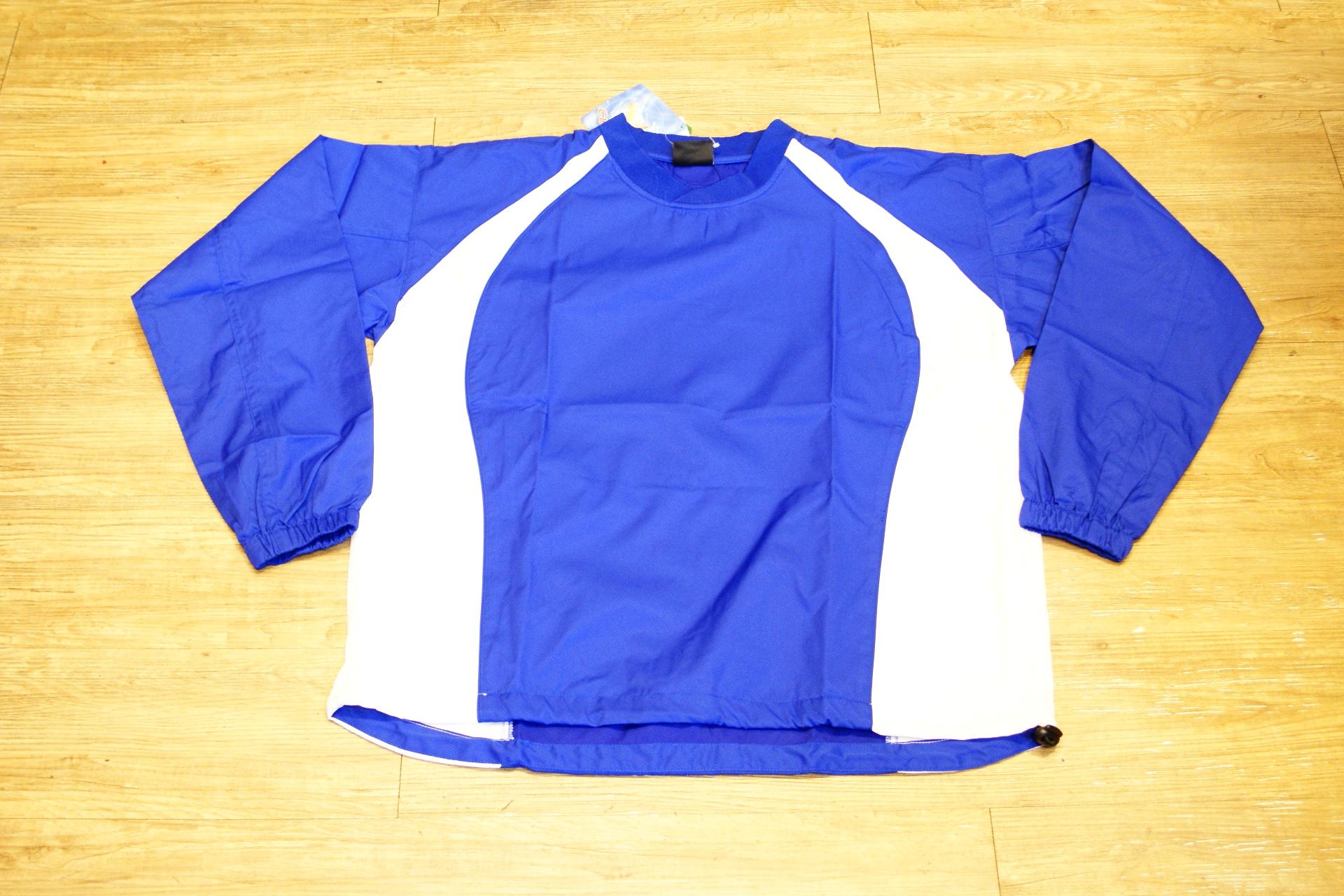棒球世界 全新POWER PLAY棒壘球運動風衣白藍色 出清下殺優惠 不到58折