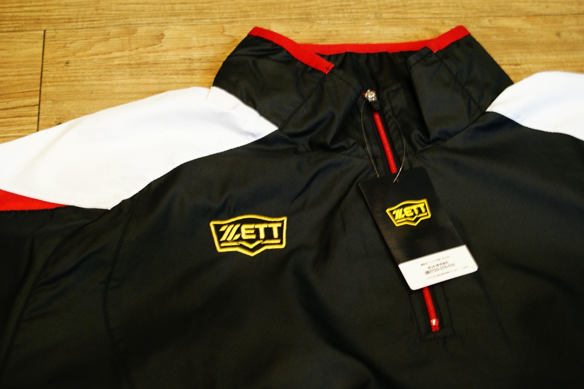 棒球世界 全新ZETT日本進口短袖風衣 特價 新本壘版標