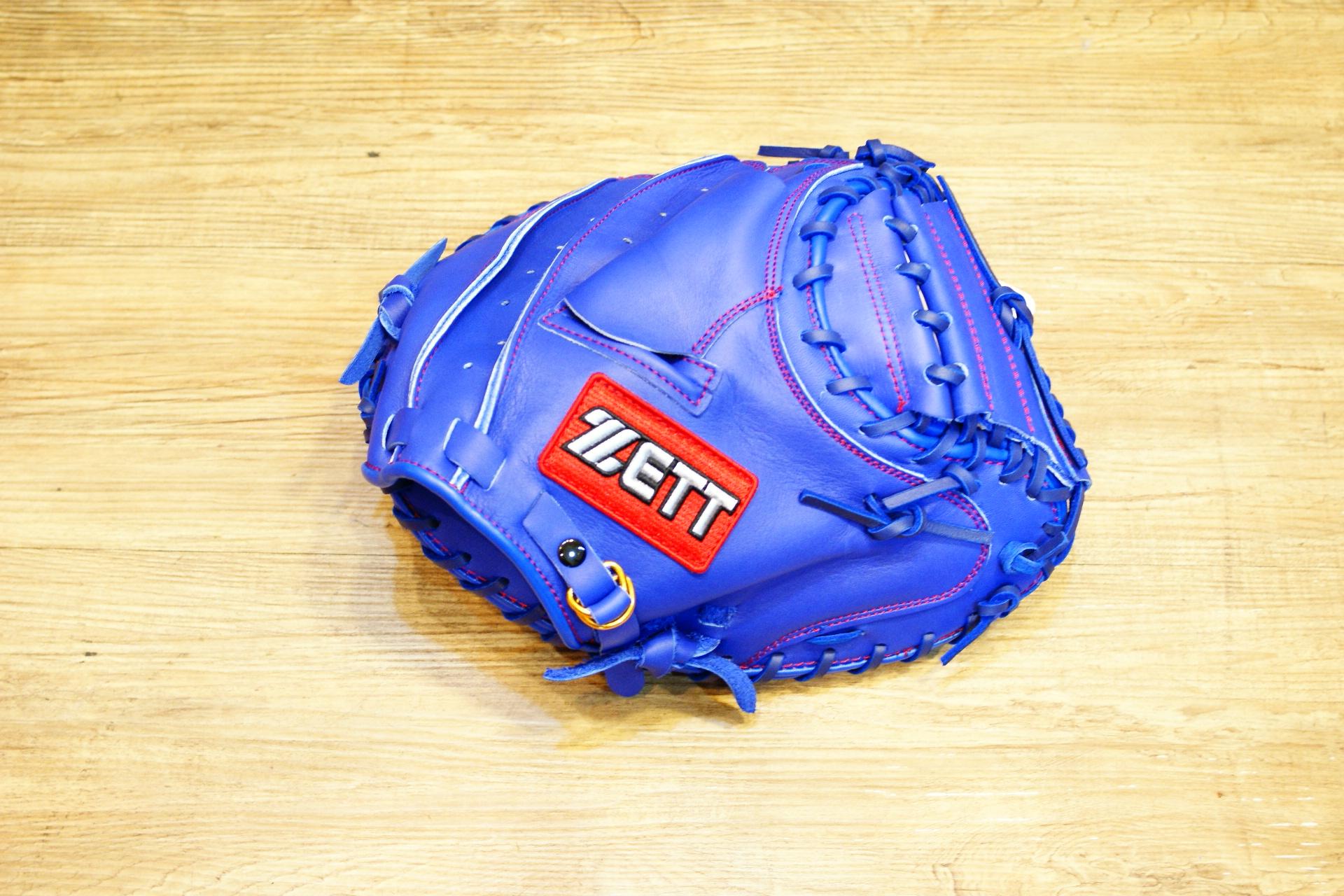 棒球世界 全新ZETT棒球捕手手套 藍色 特價 加送手套袋 8702系列