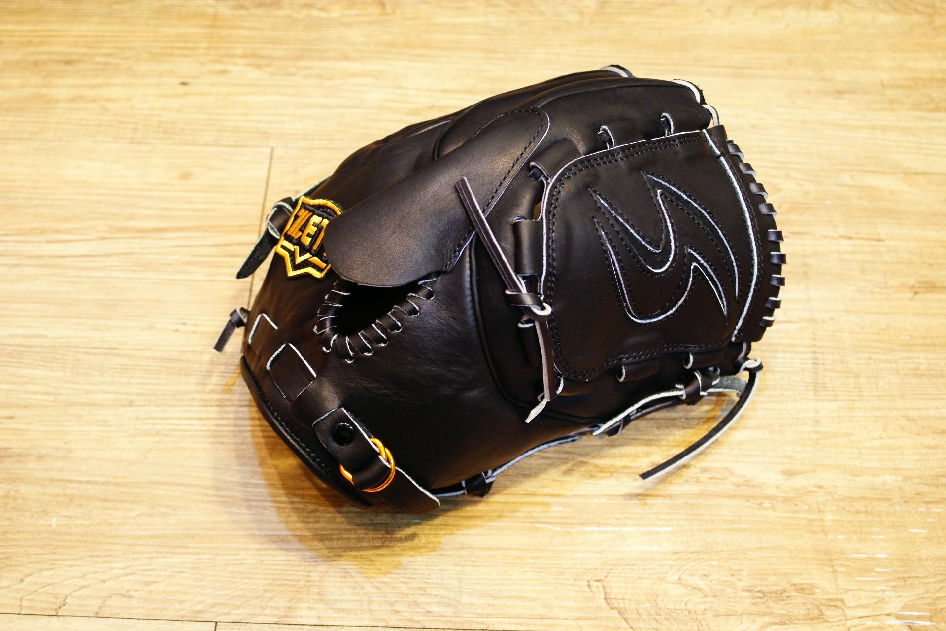 棒球世界 ZETT硬式金標棒球投手手套 特價 本壘版標 黑色