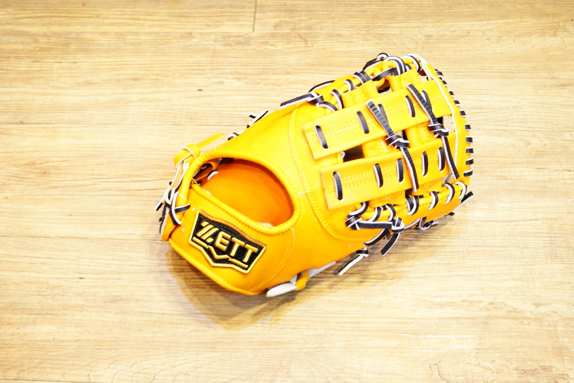 棒球世界 ZETT硬式金標棒球一壘手套 特價 本壘版標 原皮色