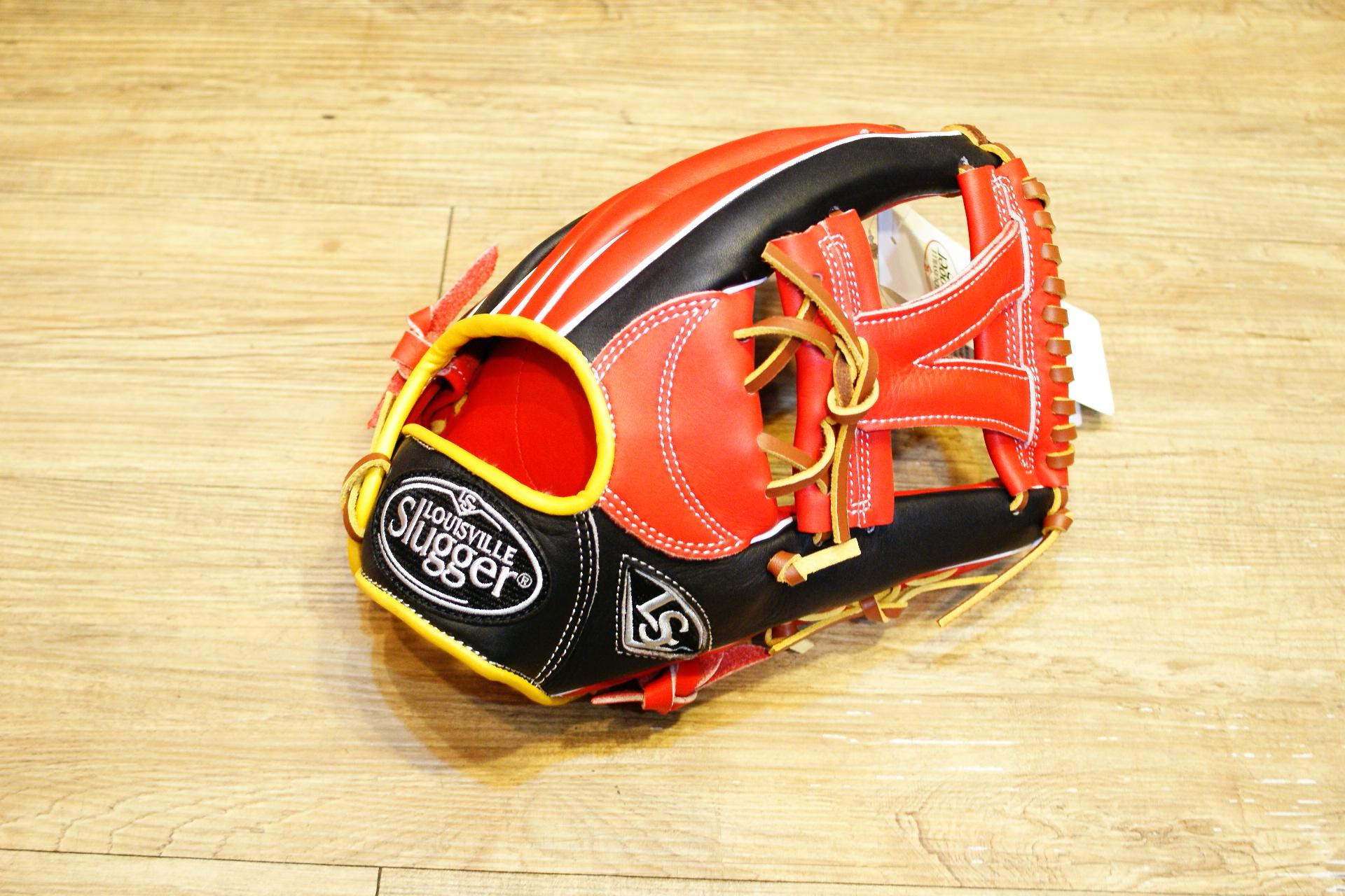 棒球世界 路易士Louisville Slugger (TPX) 戰士牛皮棒球手套 特價 工字 紅黑配色