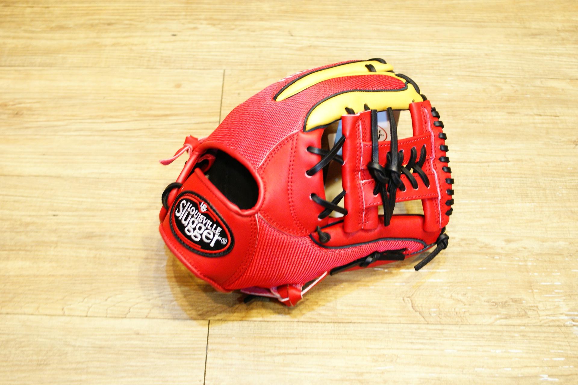 棒球世界 Louisvill Slugger 路易斯威爾TPX LS AIR布織布 內野工字棒壘球手套 特價 紅金配色