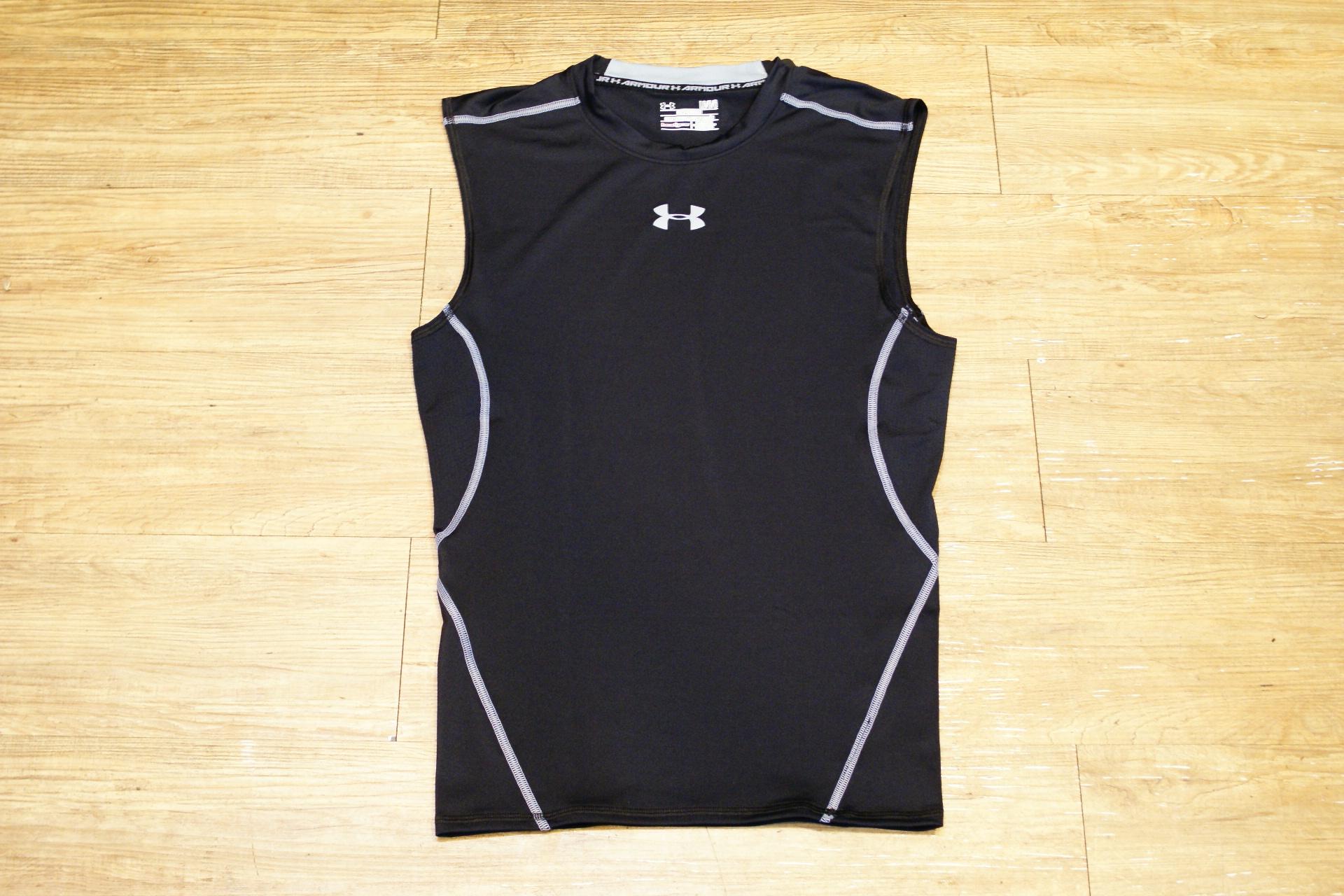 棒球世界 全新UNDER ARMOUR HG Sonic UA無袖運動緊身衣 特價 黑色