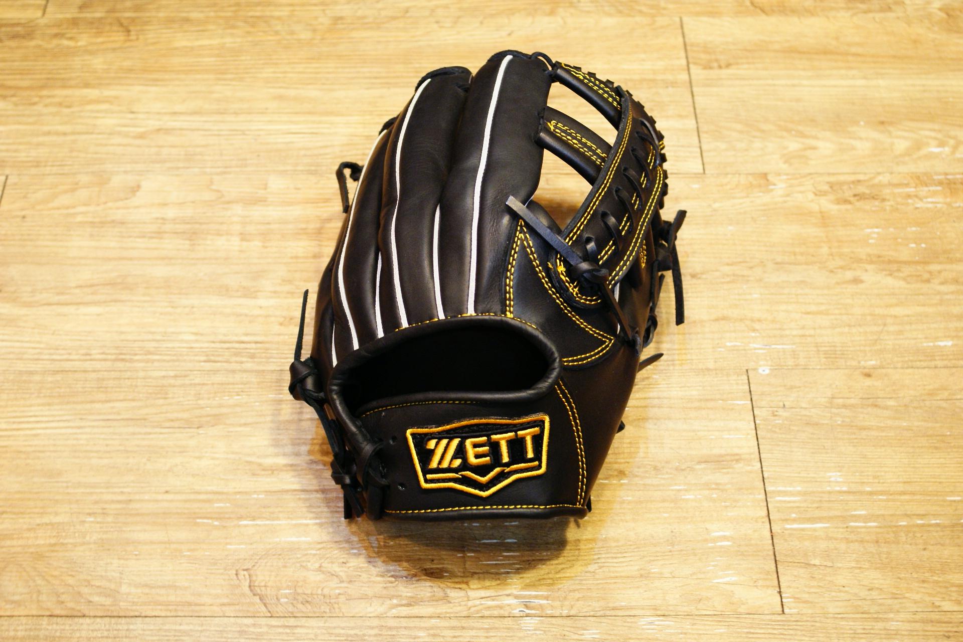 棒球世界 全新 ZETT本壘版新標訂製硬式牛皮內野手套 特價 12吋 限量日本最新球檔 黑色