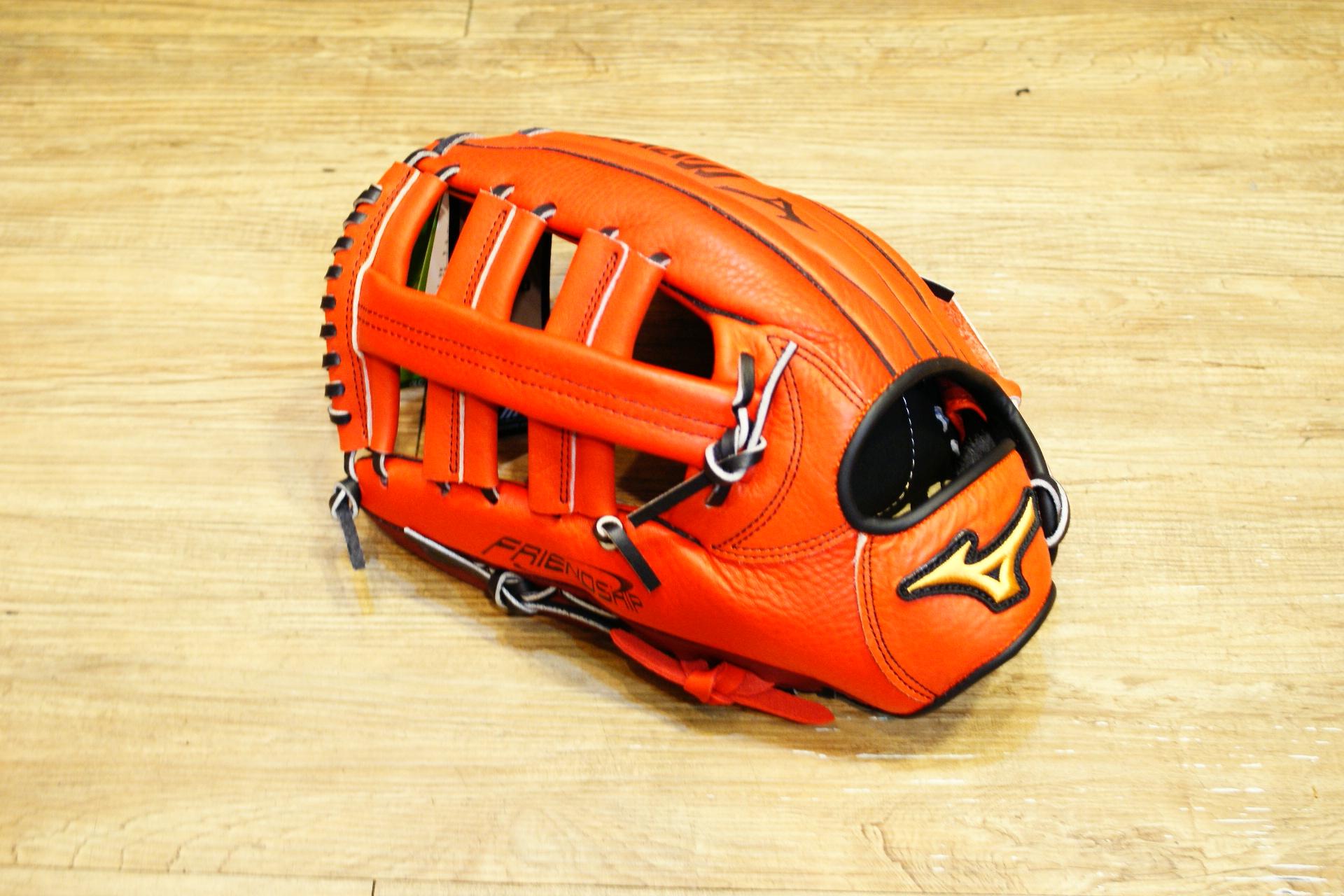 棒球世界 Mizuno美津濃 FRIEND SHIP 壘球手套 1ATGS50830 特價 外野雙十字 反手橘色