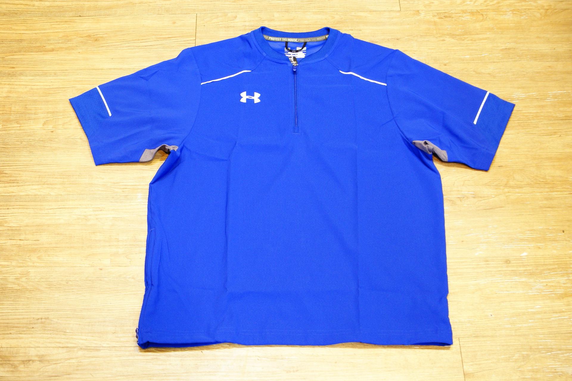 棒球世界 全新UNDER ARMOUR UA 短袖風衣外套 特價 寶藍色