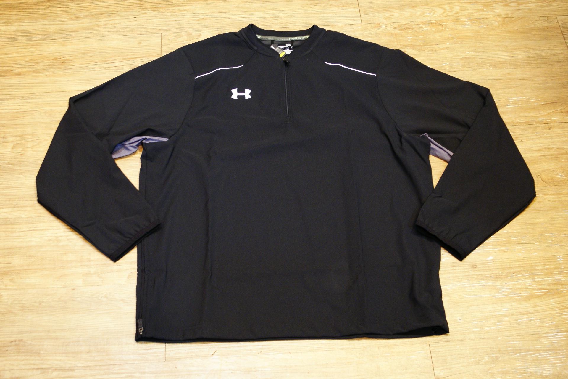 棒球世界 全新UNDER ARMOUR UA 長袖風衣外套 特價 黑色