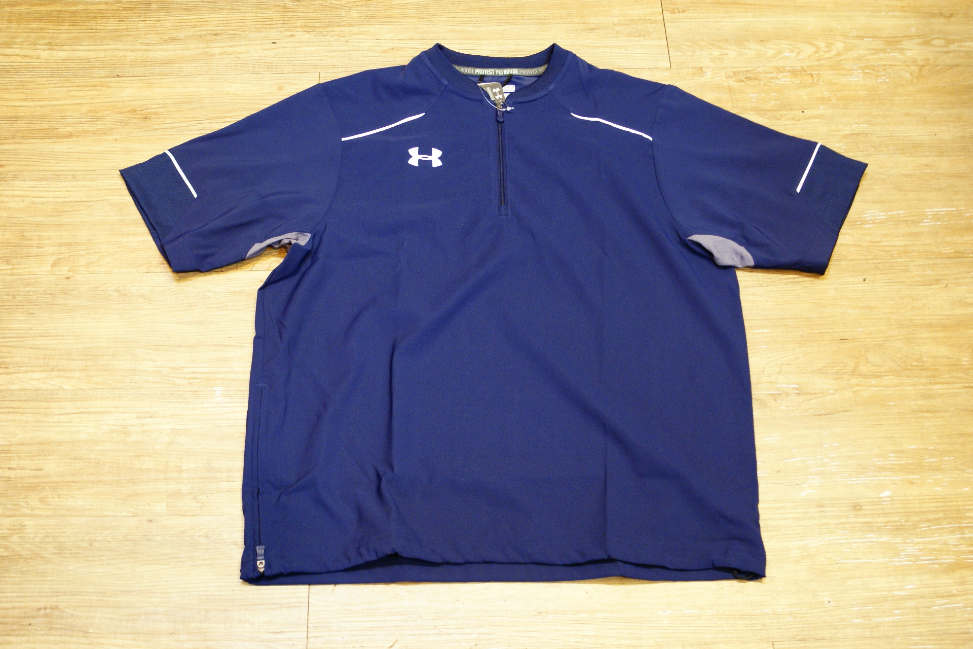 棒球世界 全新UNDER ARMOUR UA 短袖風衣外套 特價 丈青色