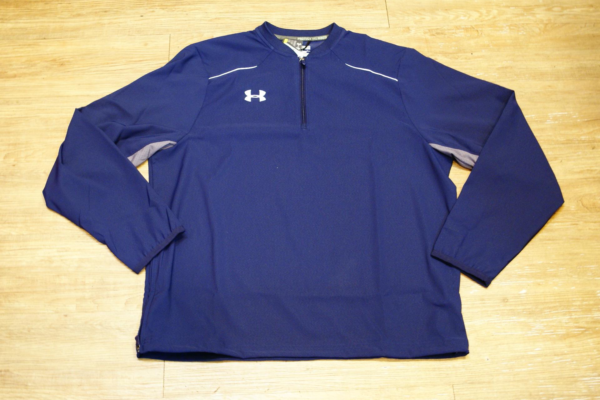 棒球世界 全新UNDER ARMOUR UA 長袖風衣外套 特價 深藍色