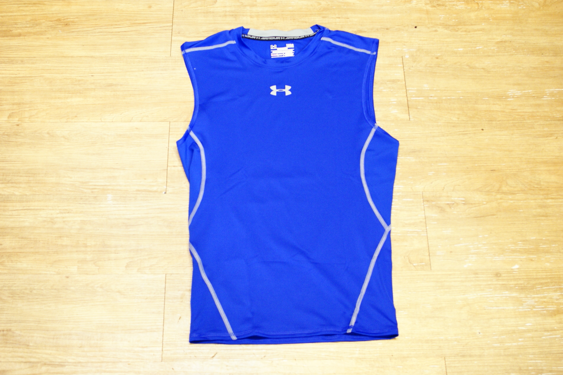 棒球世界 全新UNDER ARMOUR HG Sonic UA無袖運動緊身衣 特價 寶藍色