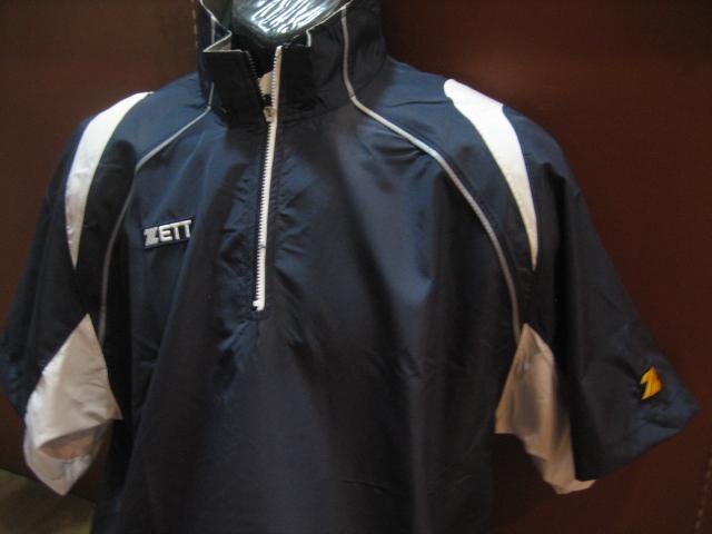 棒球世界 2010 ZETT 新款短袖熱身風衣(BOTT-500.白色) 夏季限定量販