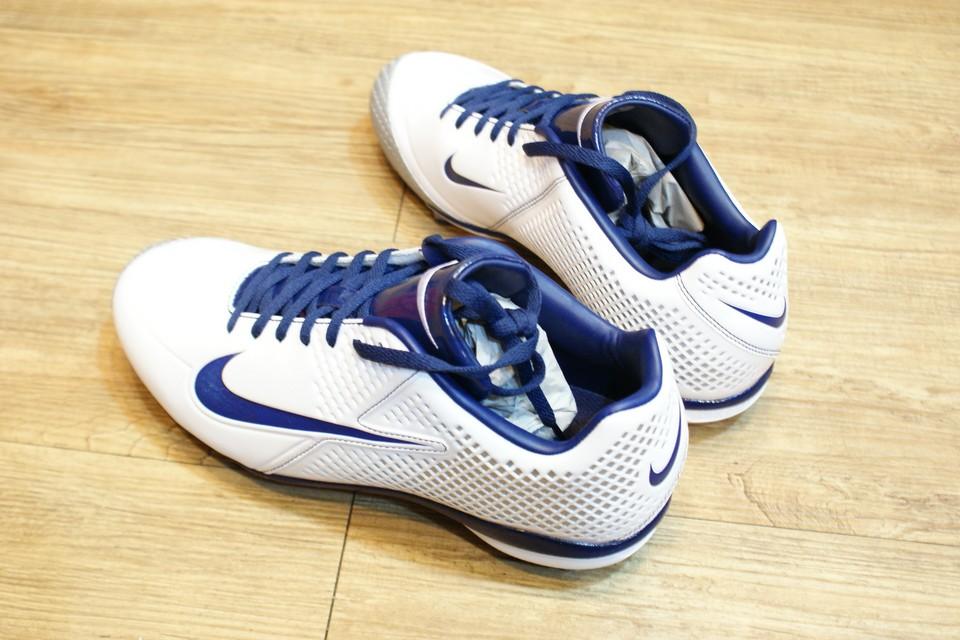 棒球世界13年NIKE AIR VAPOR SPEED J 棒壘球專用膠釘鞋 白藍配色款 特價
