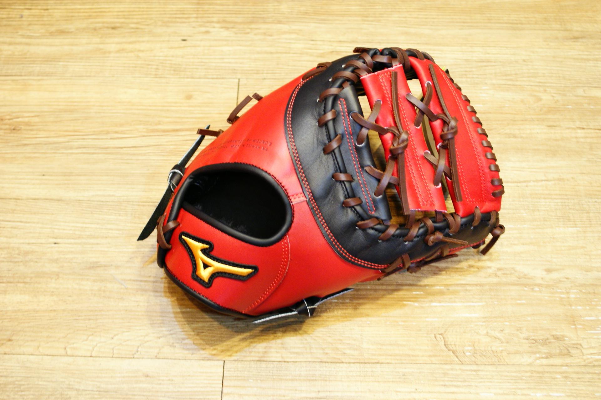 棒球世界 Mizuno美津濃 硬式一壘手套 1ATFH50400 特價 棒球一壘手用 黑紅配色