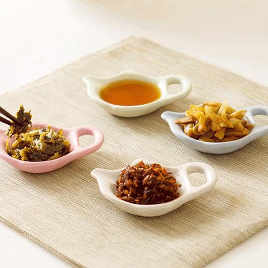 ♚MY COLOR♚茶壺造型小碟子 小麥 環保 醋 醬油 調味 小菜 餐具 廚房 手把 醬料 餐桌【H38-1】