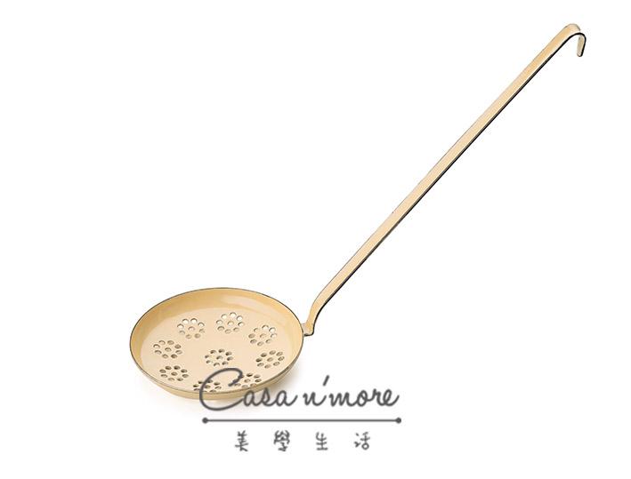 Riess 琺瑯 湯勺 淺濾勺   12 cm 黃色 奧地利製