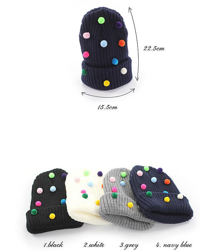 保暖帽子 針織帽 毛帽 甜美彩色糖果毛帽【C0982】艾咪E舖  情侶 配件