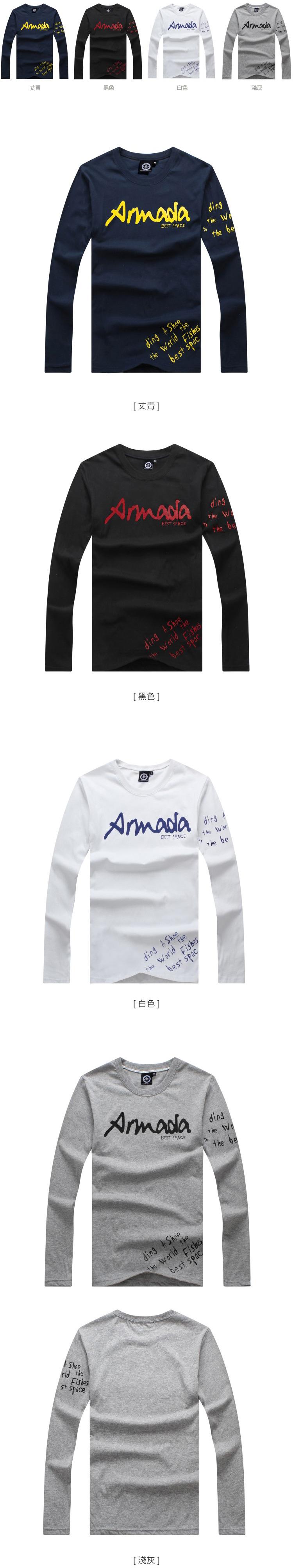 長袖   T-Shirt   情侶   MIT台灣製  隨性塗鴉文字+左袖印刷長T【G4256】艾咪E舖    情侶長袖
