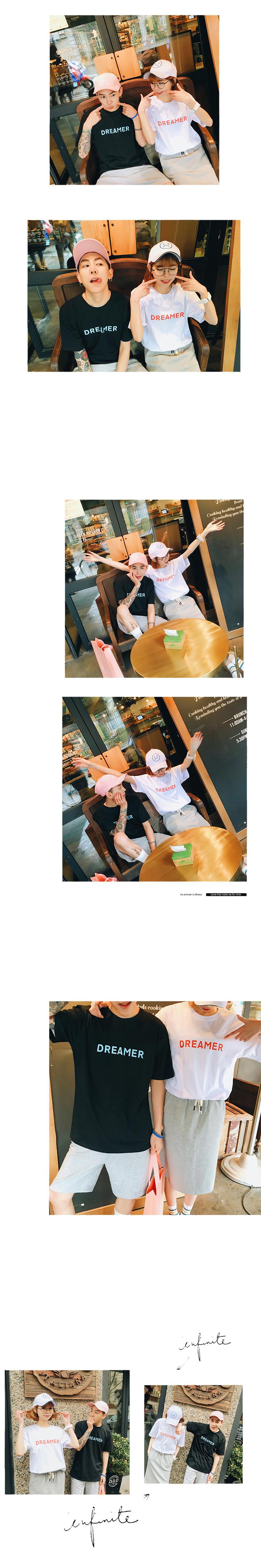 ◆快速出貨◆T恤.情侶裝.班服.MIT台灣製.獨家配對情侶裝.客製化.純棉短T.藍紅DREAMER【Y0175】可單買.艾咪E舖