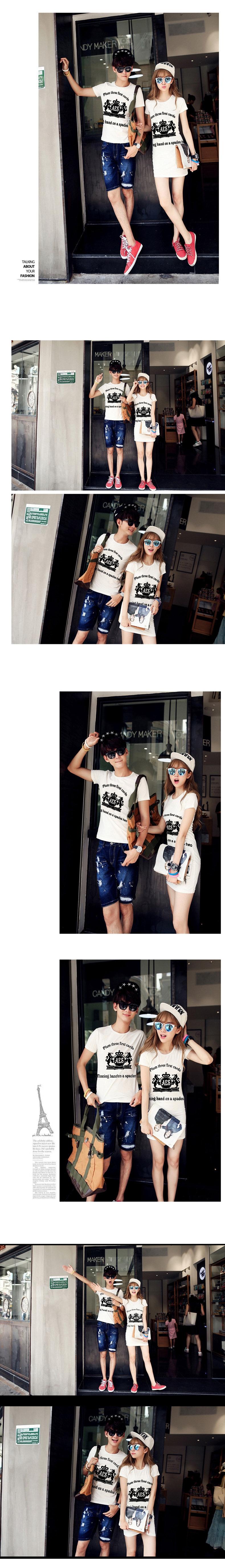 ◆快速出貨◆T恤.情侶裝.班服.MIT台灣製.獨家配對情侶裝.客製化.純棉短T.黃冠雙馬【Y0317】可單買.艾咪E舖
