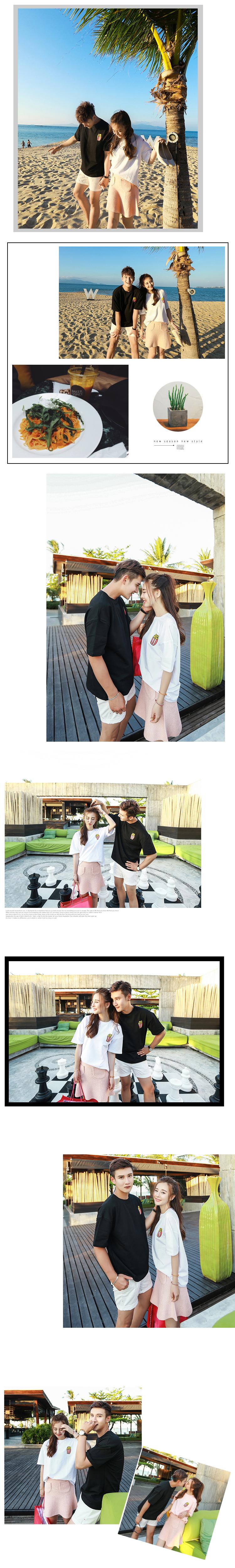◆快速出貨◆T恤.情侶裝.班服.MIT台灣製.獨家配對情侶裝.客製化.純棉短T.左胸彩條爆米花【Y0331】可單買.艾咪E舖