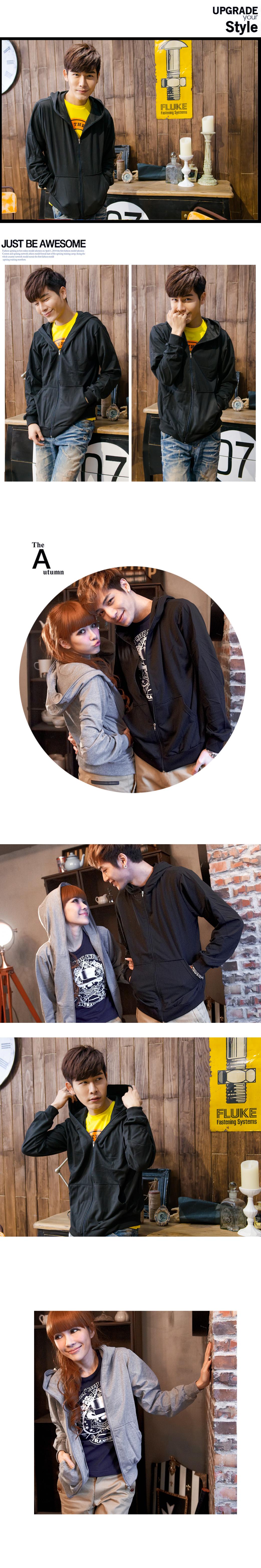 MIT台灣製 潮流外套 舒適 連帽  磨毛 素面  全素面連帽外套【YJ0001】艾咪e舖.女/男尺寸S~XL