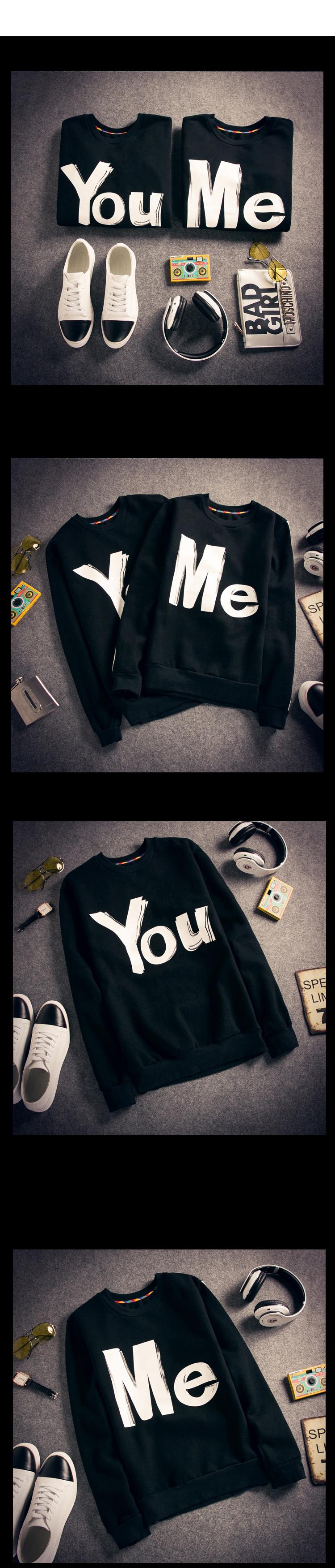 ◆快速出貨◆刷毛T恤 圓領刷毛 情侶T恤 暖暖刷毛 MIT台灣製.筆刷 YOU ME【YS0390】可單買.艾咪E舖