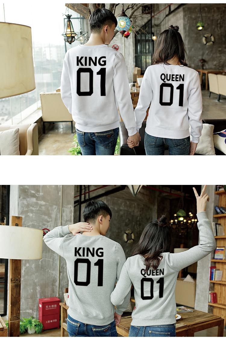 ◆快速出貨◆刷毛T恤 圓領刷毛 情侶T恤 暖暖刷毛 MIT台灣製.背後KING QUEEN 01【YS0392】可單買.艾咪E舖