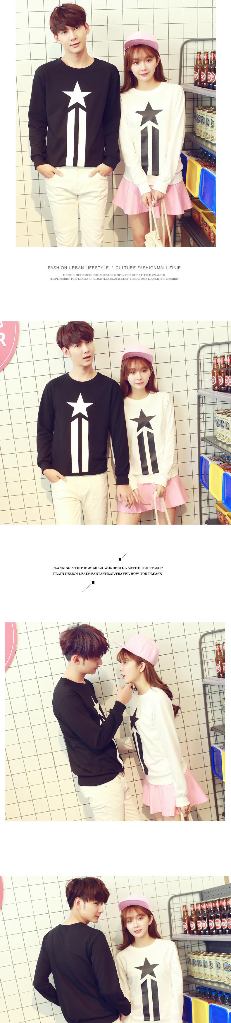 ◆快速出貨◆刷毛T恤 圓領刷毛 情侶T恤 暖暖刷毛 MIT台灣製.星星兩直線【YS0423】可單買.艾咪E舖