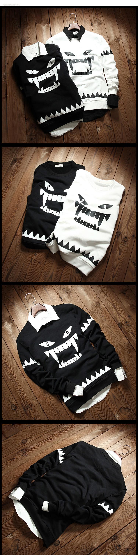 ◆快速出貨◆刷毛T恤 圓領刷毛 情侶T恤 暖暖刷毛 MIT台灣製.圓領-惡魔牙齒【YS0432】可單買.艾咪E舖