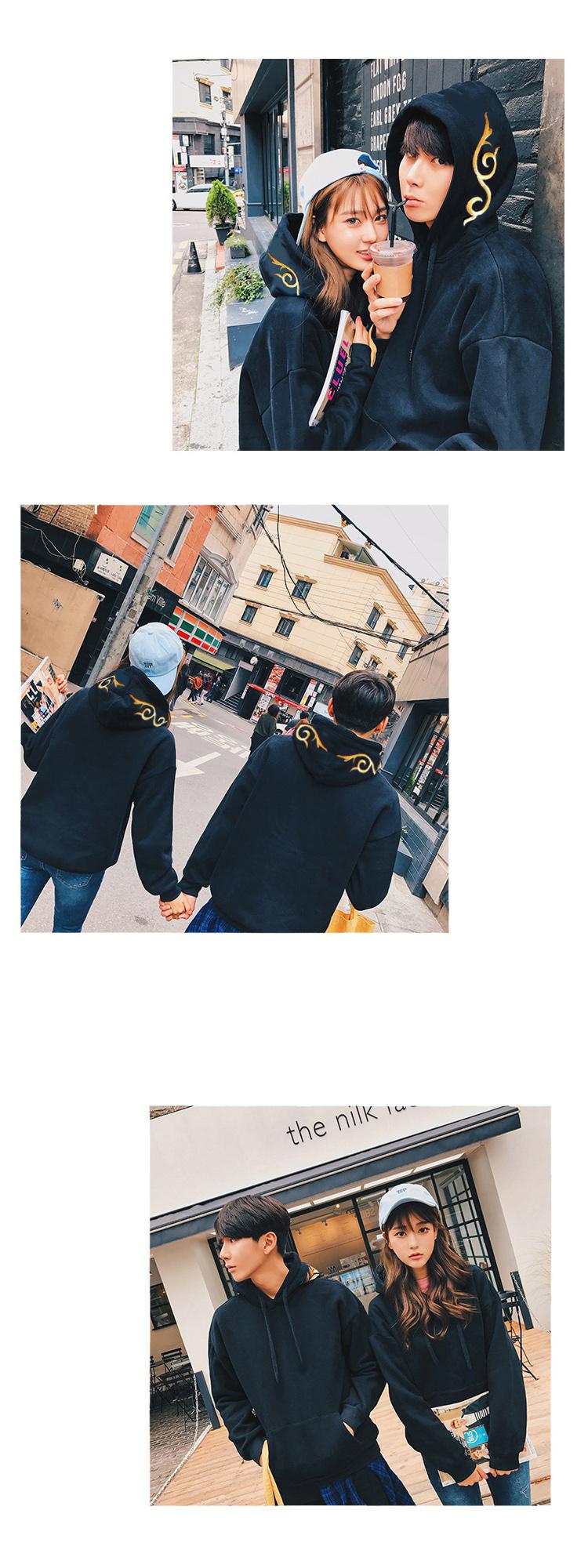 ◆快速出貨◆刷毛T恤 連帽刷毛 圓領刷毛 情侶T恤 暖暖刷毛 MIT台灣製.帽上刺繡花紋【YS0489】可單買.艾咪E舖