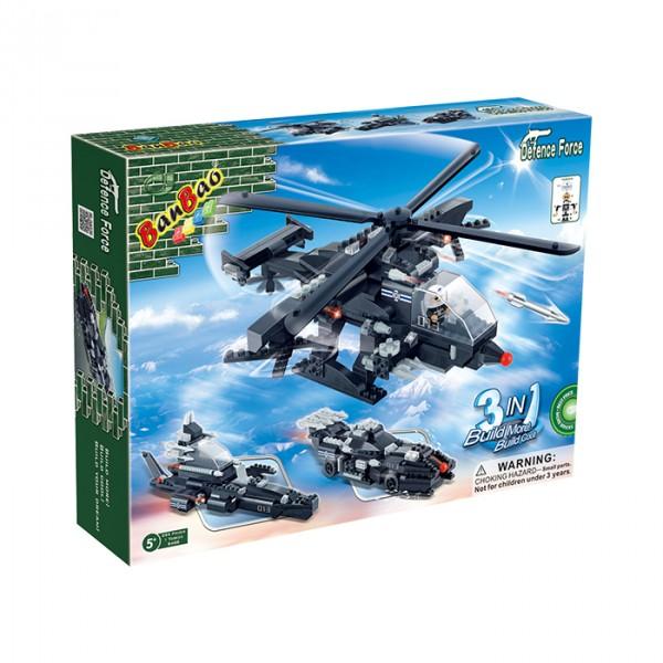 【BanBao 積木】戰爭系列-變形飛機(3in1) 8488  (樂高通用) (單筆訂單購買再加送積木拆解器一個)
