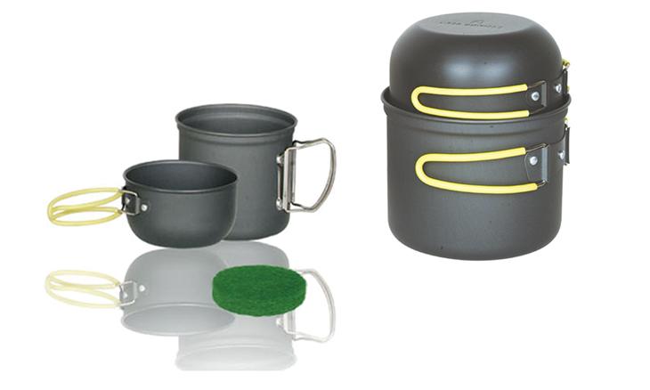 單人硬質氧化套鍋/可以套疊收藏,攜帶方便/適合野外露營登山 ARC-511  野樂 Camping Ace