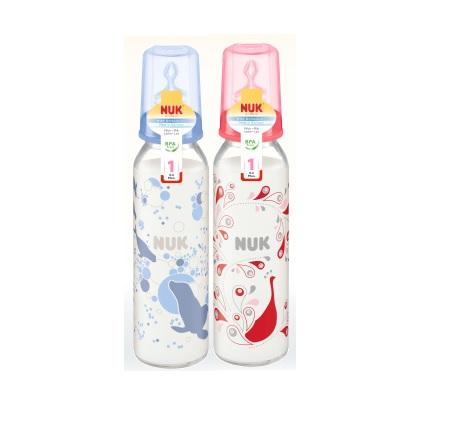 德國【NUK】玻璃印花奶瓶230ml