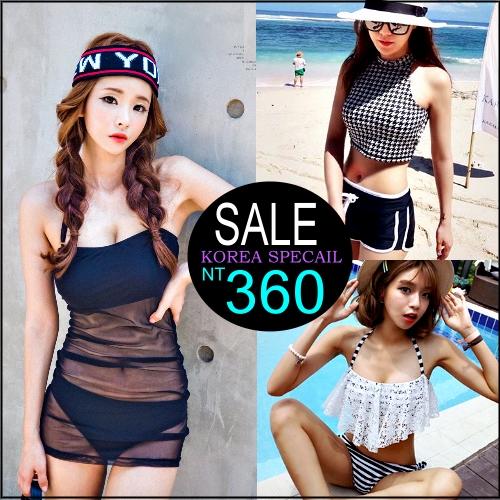 ☆克妹☆現貨+預購【ZT99033】韓國代購性感透視網紗二件式Bikini比基尼泡湯/泳裝組
